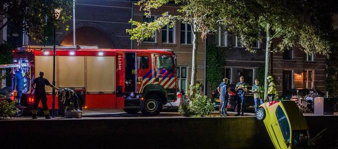 Auto te water in Heemskerk
