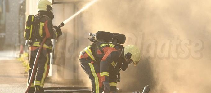 Brand bij Brouwer Tours in Noordwijk