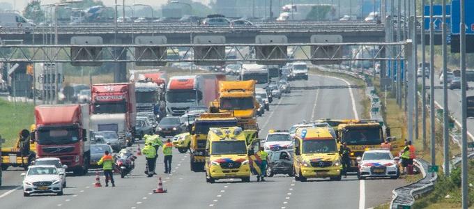 Twee gewonden bij ongeval op de A4