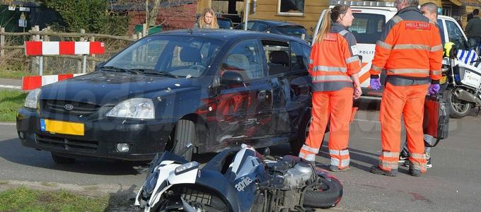 Ongeval motor auto