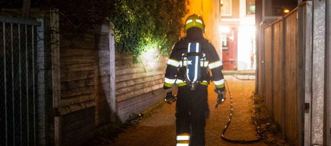 Brand in een schuurtje in Haarlem