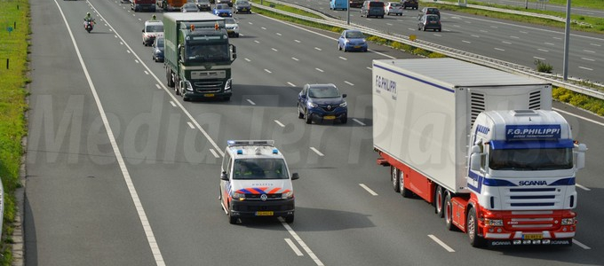 Bijzonder transport over de A4