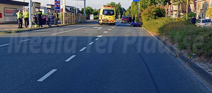 Motorrijder komt ten val Haagweg Leiden